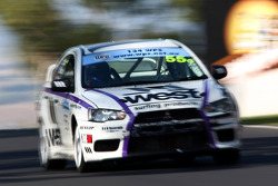 #55 West Surfing Products, Mitsubishi Lancer Evo X: Glyn Crimp, Tony Ricciardello, Stuart Kostura