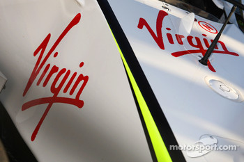 Virgin sticker, new Brawn GP sponsor