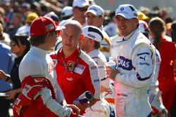 Kimi Raikkonen, Scuderia Ferrari and Robert Kubica, BMW Sauber F1 Team