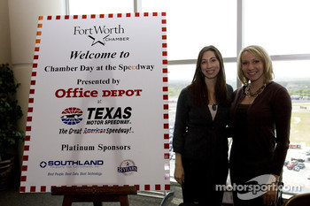 Office Depot Chamber day in the Speedway Club at the Texas Motor Speedway: the charming hostesses