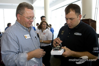 Office Depot Chamber day in the Speedway Club at the Texas Motor Speedway: Ryan Newman