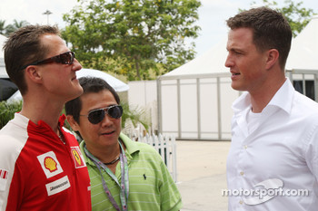 Michael Schumacher, Scuderia Ferrari with his brother Ralf Schumacher, DTM driver