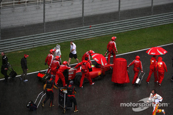 Felipe Massa, Scuderia Ferrari, after the race was red flagged due to rain