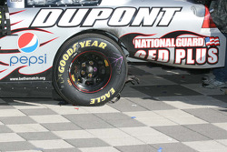 Victory lane burn out damage on Jeff Gordon's car