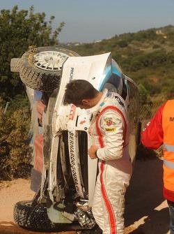 Bernardo Sousa, Fiat Grande Punto S2000, after his crash