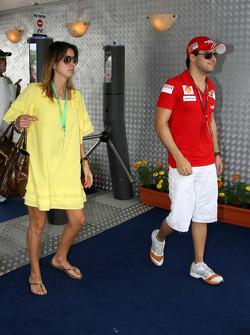 Anna Rafaela Bassi with Felipe Massa