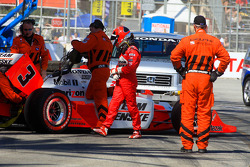 Helio Castroneves, Team Penske after his crash