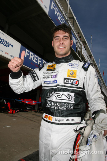 Pole winner Miguel Molina