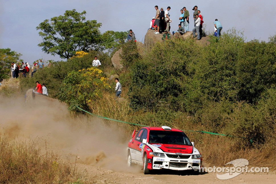 Eyvind Brynildsen and Maria Andersson, Mitsubishi Lancer Evo IX