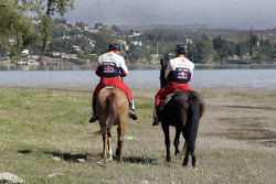 Sébastien Loeb and Daniel Elena horse ride