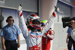 Pole winner Jarno Trulli, Toyota Racing