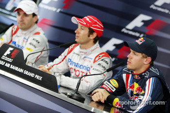 FIA press conference: Timo Glock, Toyota F1 Team, Jarno Trulli, Toyota Racing, Sebastian Vettel, Red Bull Racing