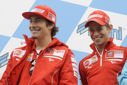 Nicky Hayden, Ducati Marlboro Team and Casey Stoner, Ducati Marlboro Team