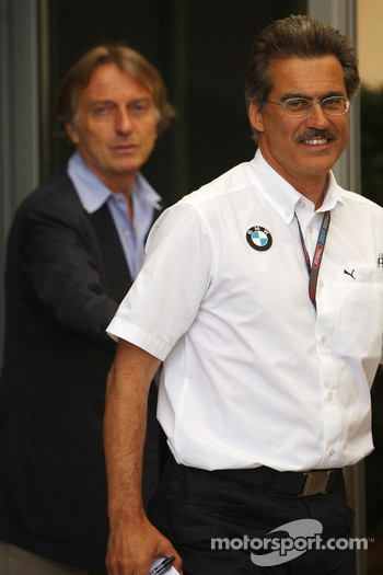 Luca di Montezemolo, Scuderia Ferrari, FIAT Chairman and President of Ferrari and Dr. Mario Theissen, BMW Sauber F1 Team, BMW Motorsport Director