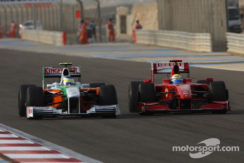 Felipe Massa, Scuderia Ferrari and Giancarlo Fisichella, Force India F1 Team
