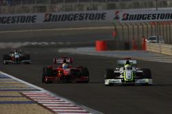 Jenson Button, Brawn GP and Felipe Massa, Scuderia Ferrari