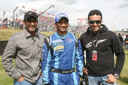 Karun Chandok Narain Karthikeyan, driver of A1 Team India, Parthiva Sureshwaren, driver of A1 Team India
