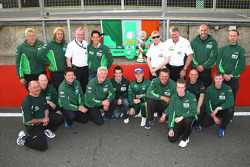 Adam Carroll, driver of A1 Team Ireland and the team