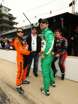 Danica Patrick, Andretti Green Racing, Tony Kanaan, Andretti Green Racing, Marco Andretti, Andretti Green Racing and Michael Andretti