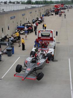 Damaged car of Ryan Hunter-Reay, Vision Racing