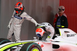 Robert Kubica, BMW Sauber F1 Team and Rubens Barrichello, Brawn GP