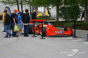 A.J. Foyt's 1977 Indianapolis 500 winning car, on display in the Pagoda Plaza