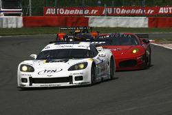 #72 Luc Alphand Aventures Corvette C6.R: Luc Alphand, Patrice Goueslard, Yann Clairay; #84 Team Modena Ferrari F430 GT: Antonio Garcia, Leo Mansell