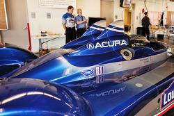 Technical inspection for the #15 Lowe's Fernandez Racing Acura ARX-01b Acura