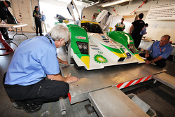 Technical inspection for the #20 Dyson Racing Team Lola B09 86 Mazda
