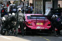 Practice pitstop of Susie Stoddart, Persson Motorsport, AMG Mercedes C-Klasse
