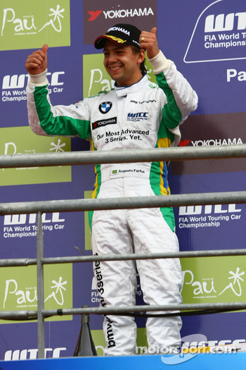 Podium, 2nd, Augusto Farfus, BMW Team Germany, BMW 320si