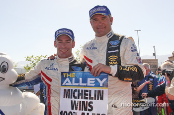 P1 and overall winners Simon Pagenaud and Gil de Ferran