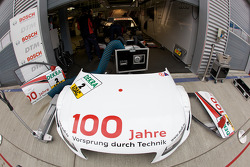 Audi Sport Team Abt Audi A4 DTM garage area