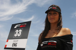 Grid girl for Philipp Eng