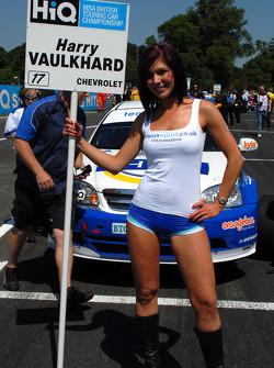 Harry Vaulkhard's grid girl
