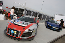 Audi R8 V10 and R8 S.2 Quattro on display in the paddock