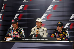 Mark Webber, Red Bull Racing, Jenson Button, Brawn GP, Sebastian Vettel, Red Bull Racing