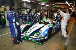 #16 Pescarolo Sport Pescarolo Judd: Christophe Tinseau, Bruce Jouanny, Joao Barbosa in the pits