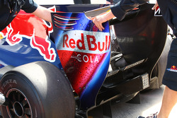 New rear wing end plate of Sebastian Vettel, Red Bull Racing