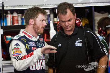Dale Earnhardt Jr., Hendrick Motorsports Chevrolet, with new crew chief,  Lance McGrew