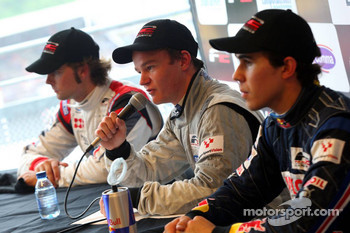Andy Soucek, Tobias Hegewald and Robert Wickens in the post race press conference