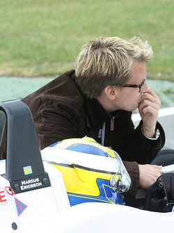 Marcus Ericsson and Kenny Brack