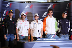 FIA press conference: the 5 german drivers, Sebastian Vettel, Red Bull Racing, Timo Glock, Toyota F1 Team, Nick Heidfeld, BMW Sauber F1 Team, Adrian Sutil, Force India F1 Team, Nico Rosberg, Williams F1 Team