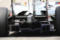 Lewis Hamilton, McLaren Mercedes with aerodynamic paint on his rear diffuser