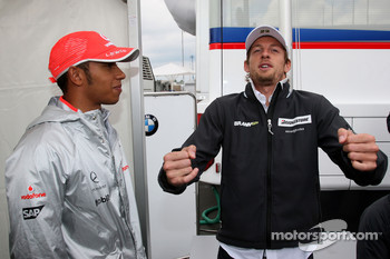 Lewis Hamilton, McLaren Mercedes, Jenson Button, Brawn GP