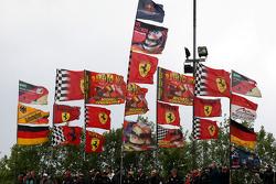 Michael Schumacher, Test Driver, Scuderia Ferrari flags