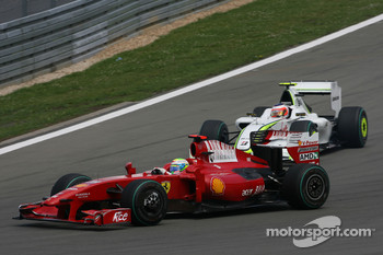 Felipe Massa, Scuderia Ferrari and Rubens Barrichello, Brawn GP