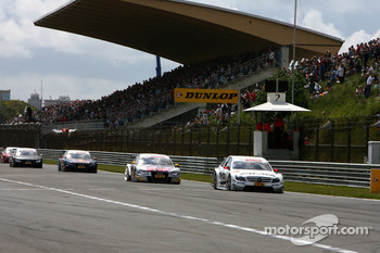 Start/finish straight and main grandstand at Zandvoort