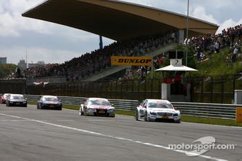 Start/finish straight and main grandstand at Zandvoort