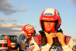 Marcus Gronholm gets ready for practice runs at Pikes Peak